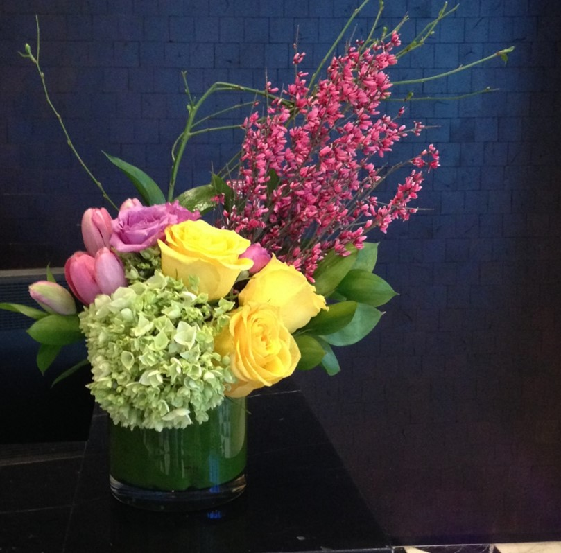 Colorful flowers while at Las Vegas Convention at Mandalay Bay